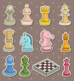 Chess stickers Royalty Free Stock Image