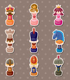 Chess stickers Stock Photos