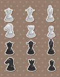 Chess stickers Royalty Free Stock Photos