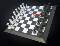Chess strategy Stock Images