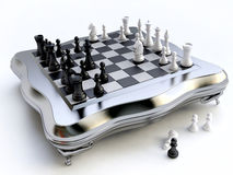 Chess strategy in 3D Stock Photos