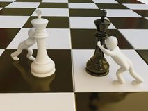 Chess Strategy in 3D Stock Photography