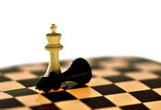 Chess viewing,chess picture,chess image,strategy,challenge,winner,victory,concept. Metaphorical representation of the winning strategy,a victory Royalty Free Stock Photo