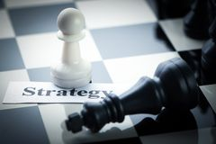 Chess strategy concept Stock Images