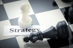 Chess strategy concept Stock Photography