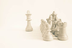 Chess strategy: points of view Stock Images