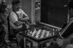 Chess in the street ! Royalty Free Stock Photography