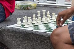 Chess on the street. Royalty Free Stock Images