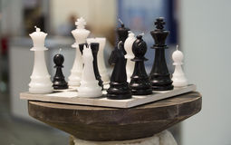 Chess style candles. Black and white candles designed as a chess royalty free stock image