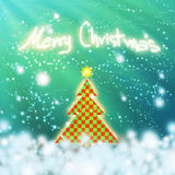Chess style christmas tree Stock Photography