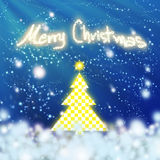 Chess style christmas tree Stock Image