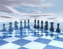 Chess surreal background Stock Image