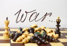 Chess symbols of war and death Stock Photography