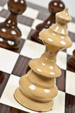 Chess table. Chess pieces closeup on chessboard Stock Photography