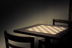 Chess Table Stock Photos