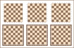 Chess table, chessboard vector set. Chess board background design, chess tables set royalty free illustration