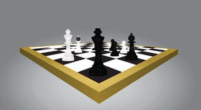 Chess table and figures Royalty Free Stock Images