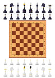 Chess table game chess figure Royalty Free Stock Images