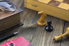 Chess on the table Royalty Free Stock Images