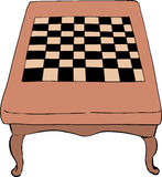 Chess table with short legs Royalty Free Stock Photo