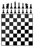 Chess table. Vector illustration background Royalty Free Stock Photo