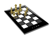 Chess on tablet Stock Photos
