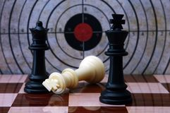Chess and target concept Stock Image