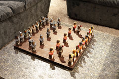 Chess on the tea table in the living room Royalty Free Stock Photography