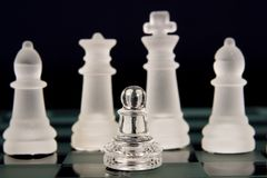 A chess team Royalty Free Stock Images
