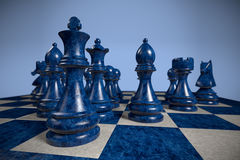 Chess: team Stock Photo
