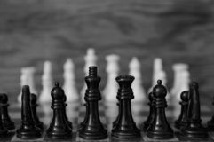 Chess, The Game That Faces White Against Black Royalty Free Stock Image