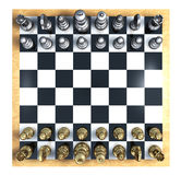 Chess Top View Royalty Free Stock Image