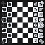 Chess top view Stock Photography