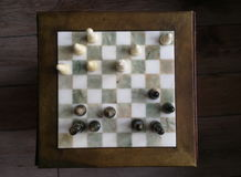 Chess top view Royalty Free Stock Images