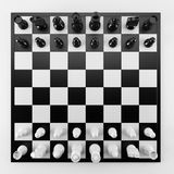 Chess from top view Royalty Free Stock Photos