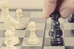 The chess tournament, closeup Stock Image