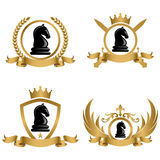 Chess Tournament Concept Logo or Emblem Stock Images