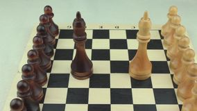 Chess troops in the battlefield stock video footage