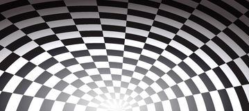 Chess tunnel checkered abstract background of hole. Chess tunnel checkered abstract background vector illustration