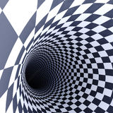 Chess tunnel to infinity. And darkness royalty free illustration