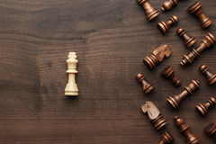 Free Chess Uniqueness Concept Over Grey Background Stock Photo - 50197040