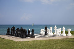 Chess on vacation Stock Photos