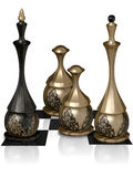 Chess victory. The image of the metal chess, 3D rendering Royalty Free Stock Photos