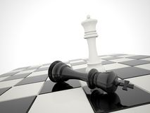 Chess victory. White is winner Stock Image