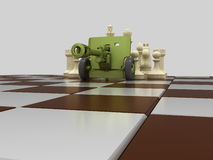 Chess war 7 Royalty Free Stock Photo