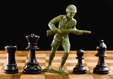 Chess and War. Stock Photo