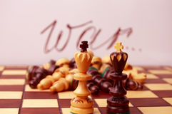 Chess. In war there are no winners. Stock Images