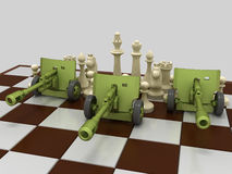 Chess war 9 Royalty Free Stock Images