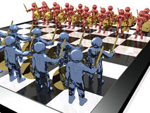 Chess warriors Stock Image