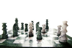 Chess on white Stock Photo